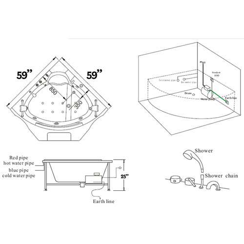 Standard Shower Tub Size.  Walk in Tub Size and Measurement Info In Guide